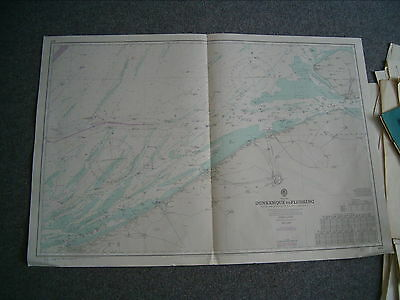 Vintage Admiralty Chart 1872 DUNKERQUE to FLUSHING 1977 edn