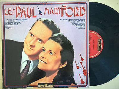 Disco Lp 33 Giri - Les Paul & Mary Ford - The Entertainers 1986 - Gd+/Vg-