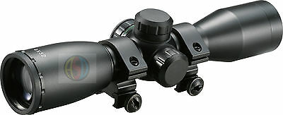 ASD 4X32 Illuminated Powered Red & Green Crossbow Scope Weaver Rail Mounts