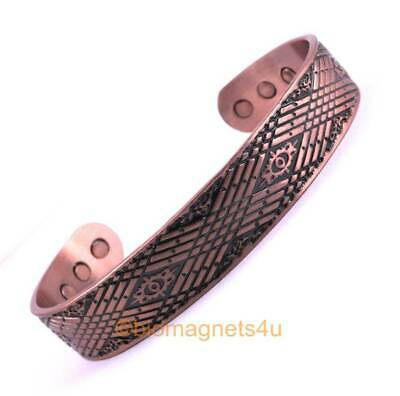 Mens Solid Copper Bio Magnetic Healing Bracelet-Arthritis Pain Relief- Large
