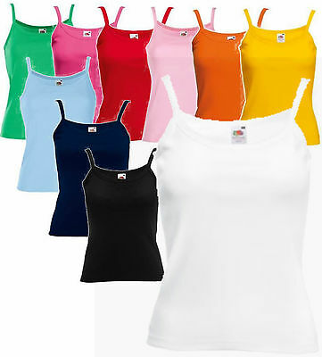 Personalised or Plain Strappy Vest T Shirt Top Camisole Customised Printed