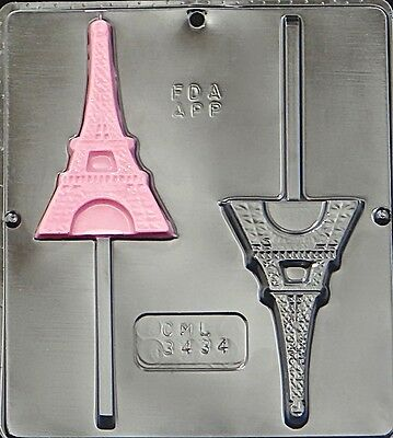 New Eiffel Tower Paris Lollipop  Chocolate Candy Mold 3434 NEW