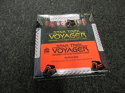Star Trek Voyager Heroes & Villains Factory Sealed ARCHIVE BOX - Includes Sketch