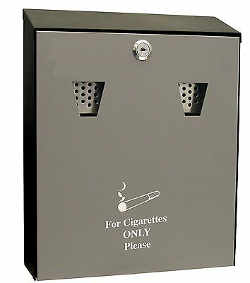 Wall Mounted Cigarette Waste Collector Ash Bin AshTray Container Outdoor Smoking