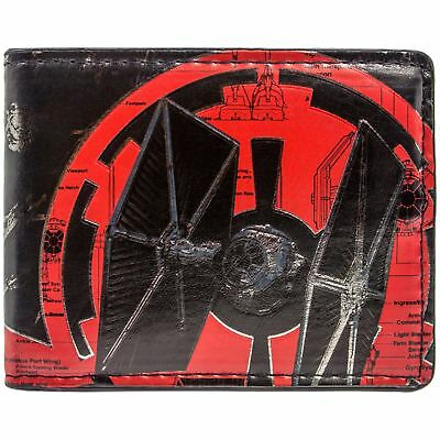 New Official Cool Star Wars Tie Fighter Red & Black Bi-Fold Wallet