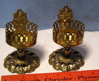 ** Vintage, ORNATE - WALL or TABLE -- Candle SCONCES ??? -- nice looking **