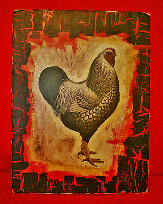 Vintage Look Rooster Rustic Cabin Country Farm Decorative Sign 5