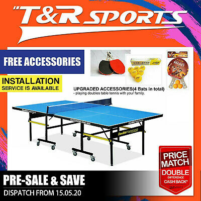 19Mm Top 40Mm Metal Leg Double Star Table Tennis / Ping Pong Table Free Post*