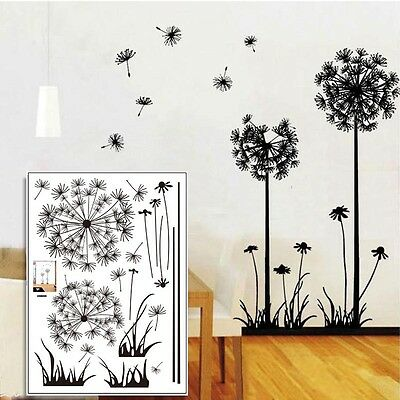 Removable Home Room Decor DIY Dandelion Vinyl Decal Fly Wall Sticker Art Mural