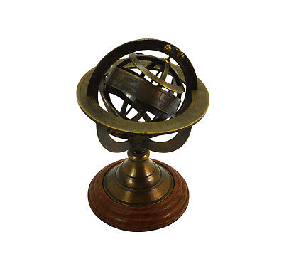 Brass Armillary Sphere Nautical Decor small Globes Zodiac Sign Globe Compass