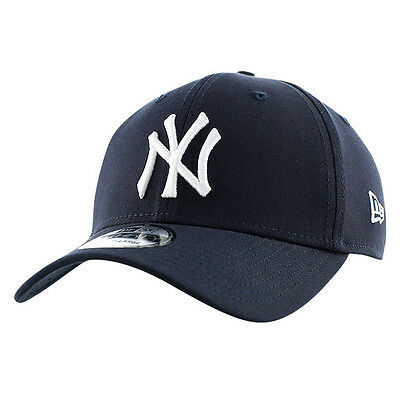 New Era 39thirty NY New York Yankees Basic League Navy White Baseball Cap e3c4292f7f99