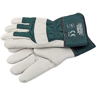 Draper Expert Quality Heavy Duty Leather Gardening Gloves Large 82609