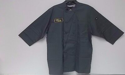 Chef Works JLCL-GRY-L Basic 3/4 Sleeve Chef Coat, Gray, Large ""