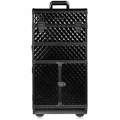 SHANY REBEL Series Pro Makeup Artists Rolling Train Case Trolley Case