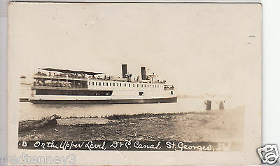 RPPC - St. Georges, Del. - Steamship on D. & C. Canal - 1914