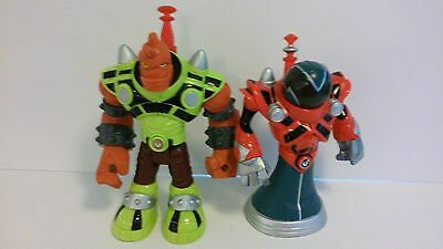 Fisher Price Planet Heroes Villains Black Hole & Red Giant Action Figure Lot