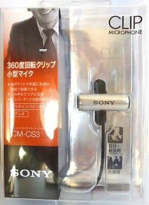 New SONY ECM-CS3 ECM CS3 Condenser Microphone Business Microphone Tie clip Japan