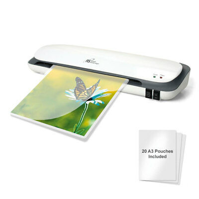 A3 A4 Laminator Laminating Machine Thermal Roller 20 Free Pouches Home Office