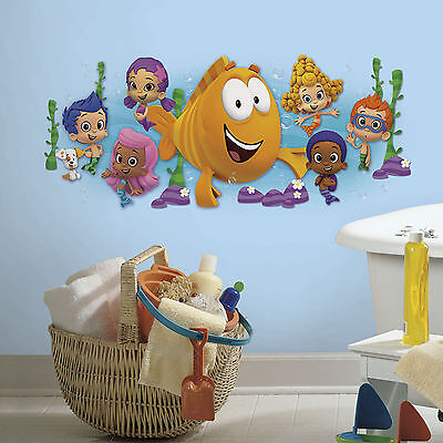 BUBBLE GUPPIES GiAnT Wall Decals Mural Molly Gill Puppy Room Decor Stickers  NEW. New BUBBLE GUPPIES Wall Decals Nickelodeon Stickers Kids Bedroom