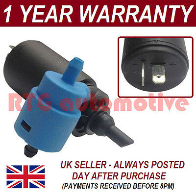 For Vauxhall Opel Corsa B 1993-00 Front Rear Twin Outlet Windscreen Washer Pump