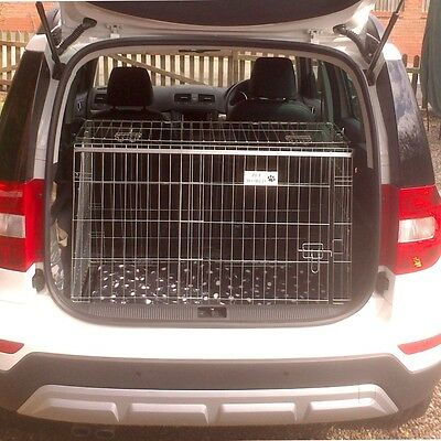Skoda Yeti Sloping Car Dog Cage Boot Travel Pet Crate Puppy Guard