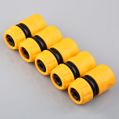 """Garden Washing Water Pipe Tube Plumbing Connector For 1/2"""" Hose Coupler Plastic"""