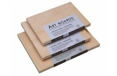 Art Boards Natural Maple Sanded Painting Panels Uncradled - Choose Size