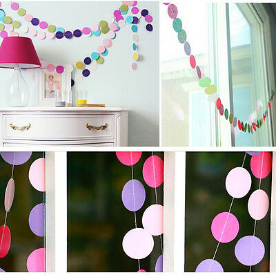 4M X Paper Garland Banner Bunting Drop for Party Baby Shower Wedding
