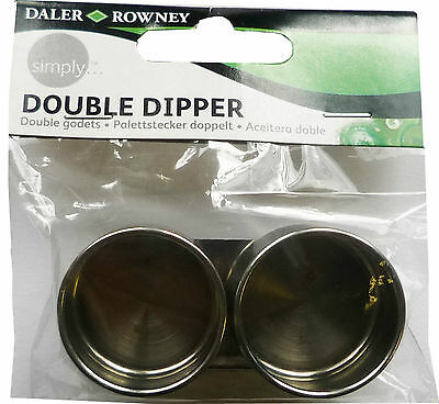 Daler Rowney Simply Double Dipper Metal Artists Palette Clip