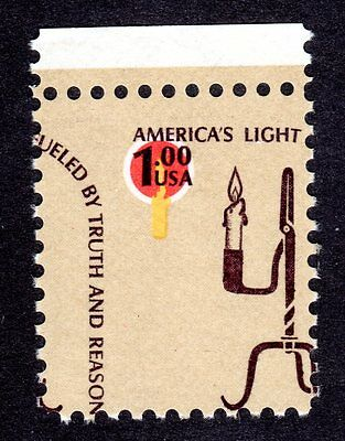 US # 1610 (1975) MNH, America's Light EFO: Misperf and Color Shift {burning $$$}