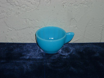 Akro Agate Large Interior Panel Cup  Azure Blue
