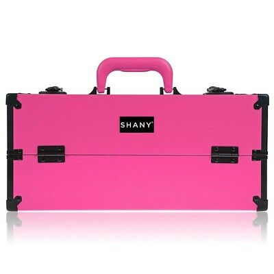 SHANY Modern Cosmetics Train Case Makeup organizer W/Brush Holder & Lock
