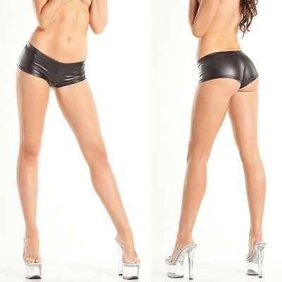 Women's Metalic Boy Short Featuring A Cheeky Cut Back Comes in 6 Colors