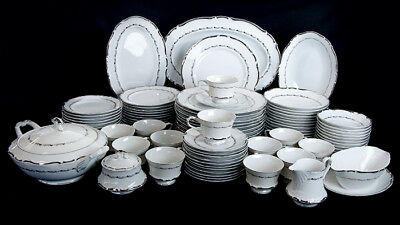 Vintage Japanese Fine Seyei China Service for 12 Marquis Coupe Soup Berry Bowls