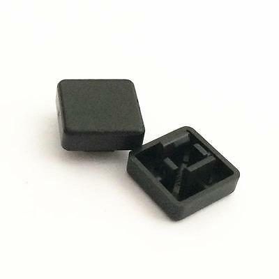 50PCS Square Tactile Button Switch Cap Cover For 12x12x7.3mm Tact Switch Black
