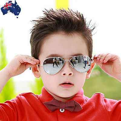 Silver Kids Sunglasses Mirrored Glasses UV-Proof w/ Gift Bag JGLAS 7001 +JGBAG