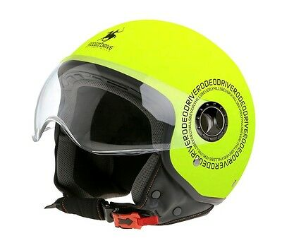 Casco Rodeo Drive Rd105 Fluo Colors Yellow Orange Scooter Moto