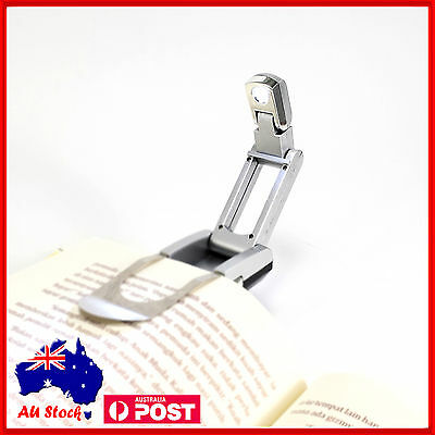 LED Clip On Book Light Reading Book Lamp Booklight Read Night Travel Flashlight