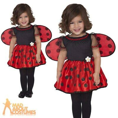 Baby Little LadyBug Costume LadyBird Fancy Dress Girls Toddler Insect Outfit
