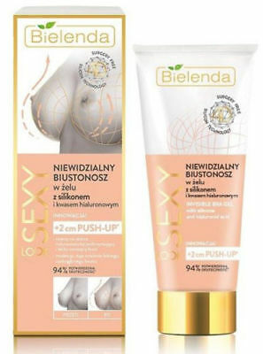 Bielenda Sexy Look Invisible Bra Silicone Gel Hyaluronic Acid 2cm Breast Push-Up