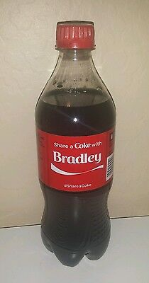 Share a Coke with Bradley - 20 oz Bottle - New, Sealed - 2015 - Coca Cola
