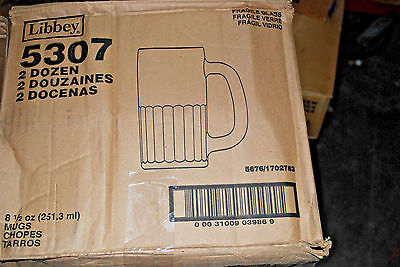 1-Case of 23 / LIBBEY #5307 Narrow Arch Panelled 8.5 Oz Beer Mugs (#M4014)
