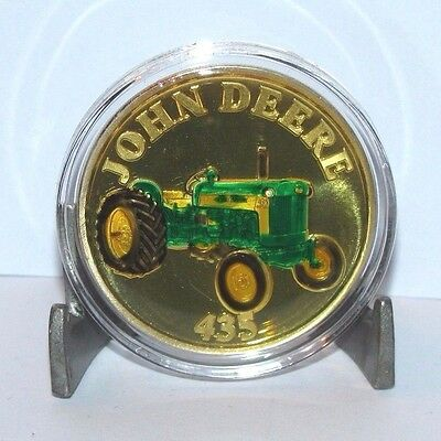 John Deere 435 Tractor .999 Fine Silver Round  1 Troy Oz Collector Coin jd gold