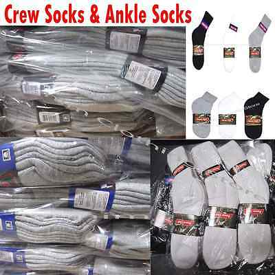 Wholesale Lots Power Club Solid Sports Cotton Crew Ankle Socks Gift Cheap Price