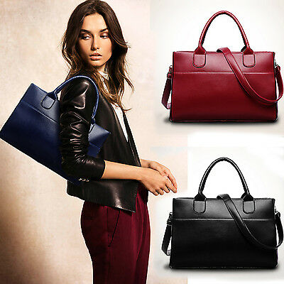 Luxury Women Genuine Leather Handbag Large Shoulder Bag Evening Tote Satchel