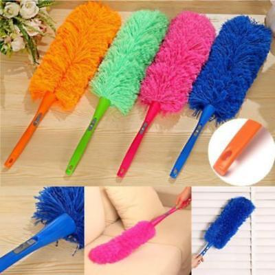 Soft Microfiber Cleaning Feather Duster Magic Dust Cleaner Handle Home Tools FW