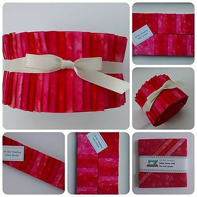 Jelly Roll, Strips Or Charm Pack 100% Cotton Fabric Pink Red Patchwork Sewing