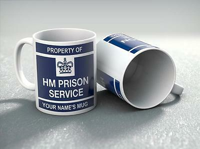 Property of HM Prison Mug Personalised with your Name Choice Gift Idea