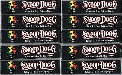Snoop Dogg King Size Slim Rolling Papers (10 Packs) Kingsize Paper