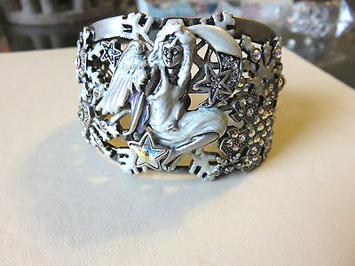 Kirks Folly Angelica Snowflake Angel Cuff Bracelet Nwot Rare